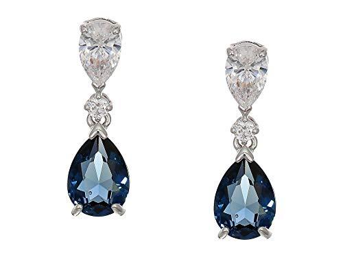 (Swarovski Crystal Vintage Blue Drop Earrings)