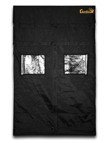 $442.05 indoor grow tent cheap Gorilla Grow Tent GGT55 Tent, 5 by 5 by 6-Feet/11-Inch, Black 2019