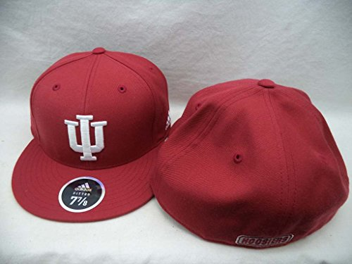 Indiana Hoosiers Adidas NCAA Red Structured Fitted Hat Cap 7 7/8