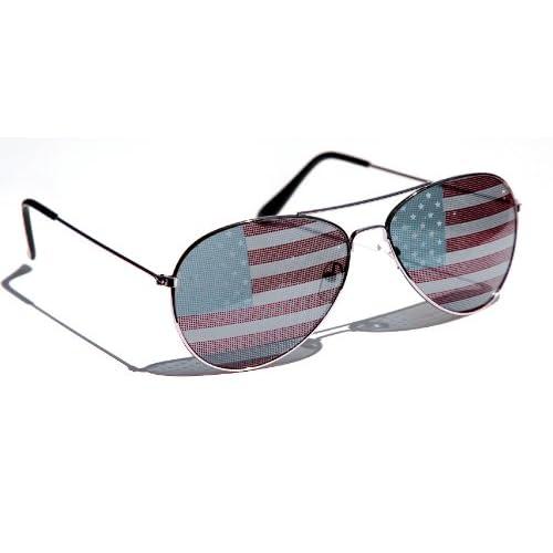 American Flag Aviator Sunglasses /OV