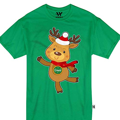 Prancer Reindeer Cute Santa Sleigh Youth Kids ()