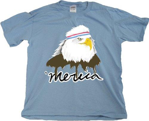 Ann Arbor T-shirt Co. Unisex-child Merica Mullet Eagle American Patriot T-Shirt