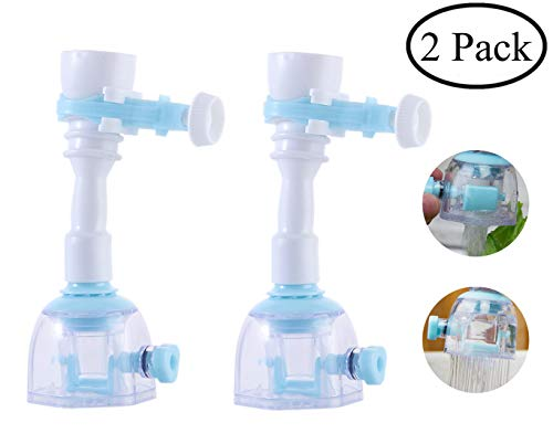 Faucet Sprayer Attachment Kitchen Water Saving Swivel Aerators, Hose Flexible Sink Attachment 360-DegreeSwivel Diffuser, Nozzle Filter Shower Head for Bathroom Accessories(2 Pack)