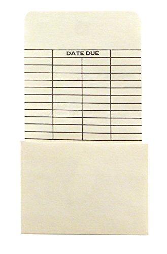 Hygloss Products Manila Library Pockets - Self Adhesive Due Date Envelopes - 6.25 x 3.5 Inches, 50 Pack