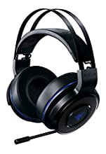 Razer Thresher 7.1 - Auriculares gamer inalámbricos para PlayStation 4 y PC, con Dolby Headphone, con sonido envolvente 7.1 & Brazo de micrófono retráctil, negro