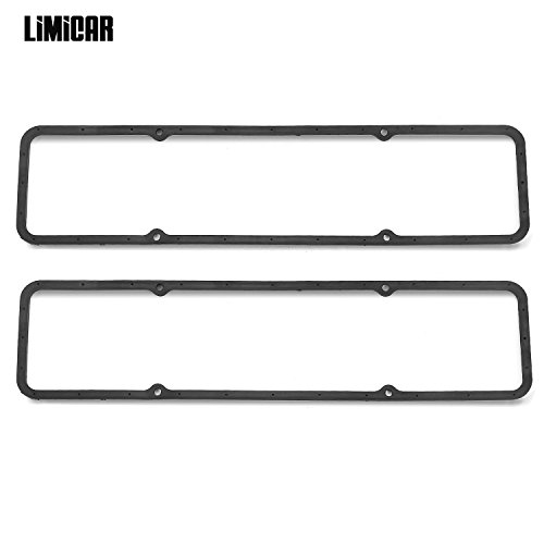 (LIMICAR SBC Steel Core Rubber Valve Cover Gaskets Small Block SB Chevy 350 305 283 327 400 383 7484BOX)