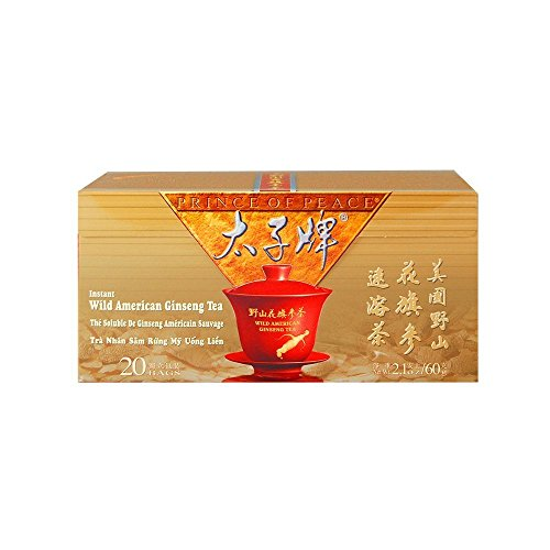 PRINCE OF PEACE Wild American Ginseng Inst Tea 20 Bag, 0.02 Pound For Sale