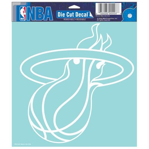 (NBA Miami Heat Die-cut Decal, 8