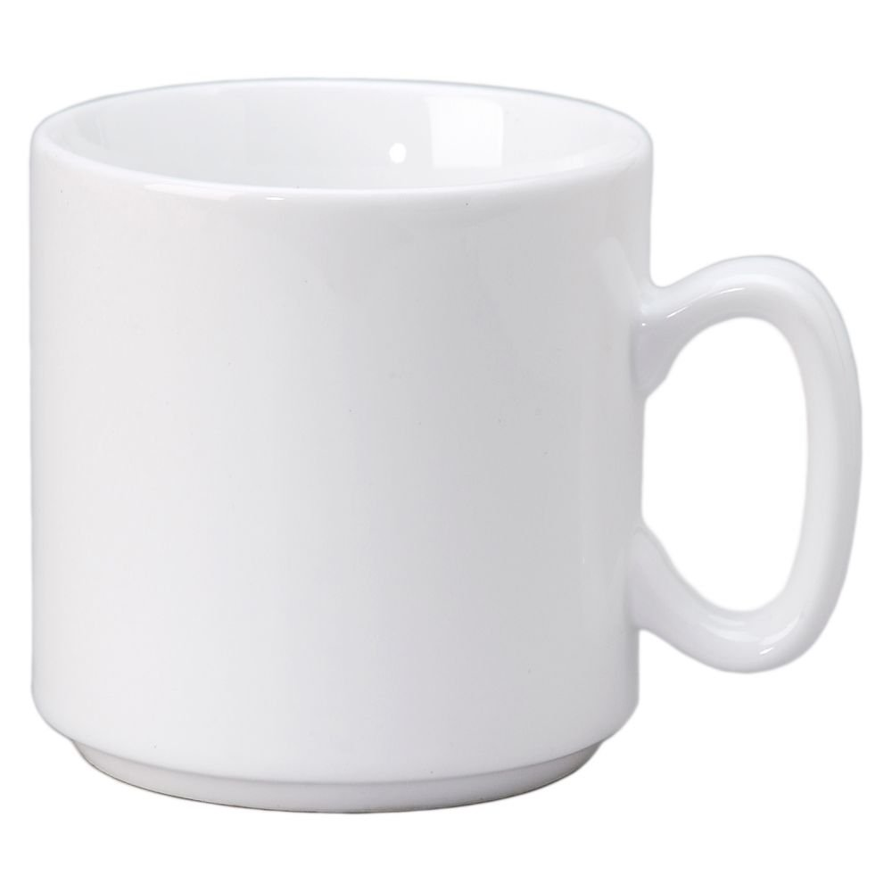 Vertex China SM-RB Rubicon Summit Stackable Mug, 3-1/4'', 10 oz., Bright White (Pack of 36)