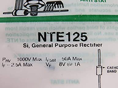 Inc. 400V DO-213AB Surface Mount Case NTE Electronics NTE621 Silicon General Purpose High Voltage Rectifier Pack of 5 Standard Recovery 1 Amps