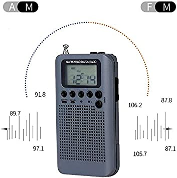 Black Color : Gold AM Two Band Radio with Loudspeaker Wangxirou-us Mini Portable FM