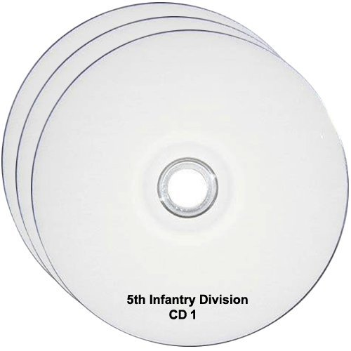 5th Infantry Division WW2 RESEARCH CD OF BOOKS, INFO, FILES, REPORTS, NARRATIVES, HISTORY 3CDs ()