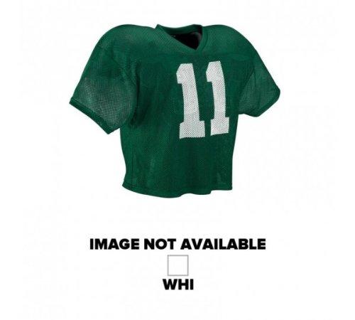 Wilson Adult Football Porthole Mesh Practice Jersey - White (Large/Extra Large)