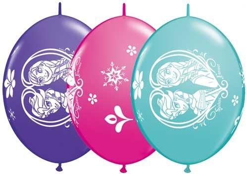 Disney Frozen Quicklink Balloons (Purple Violet, Wild Berry, Caribbean Blue) - Pack of 50