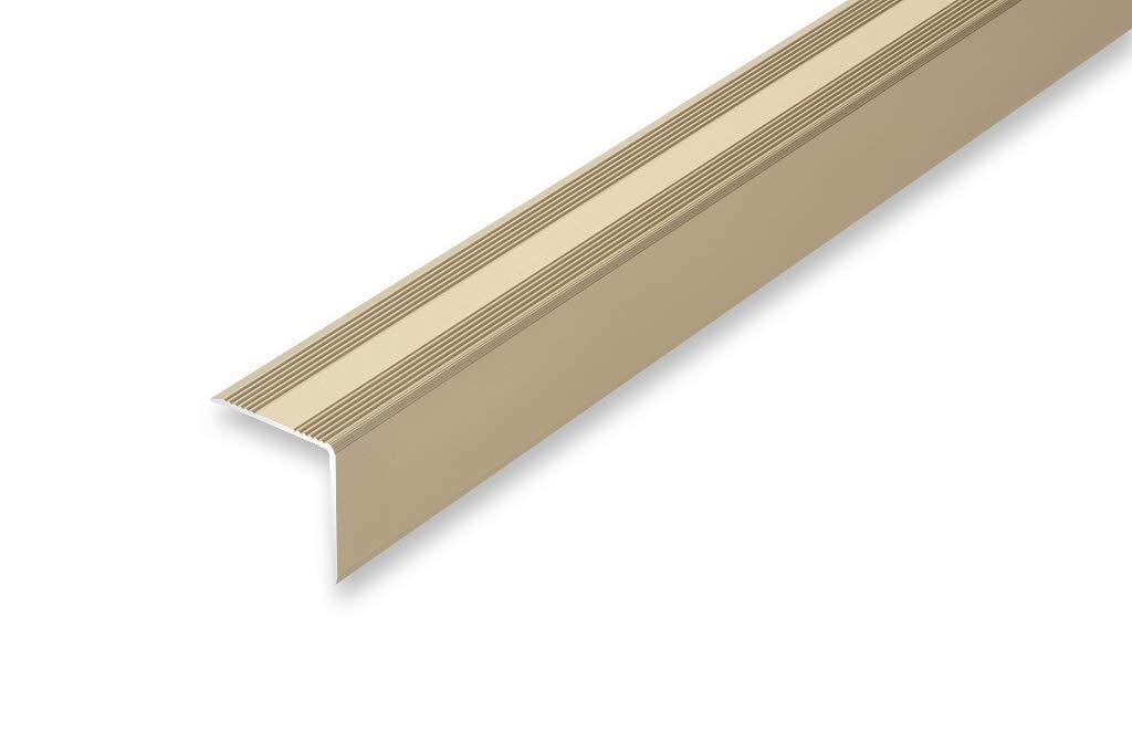 Montageset gebohrt inkl , schwarz ungebohrt Treppenwinkel 30 x 32 mm in 6 Eloxalfarben 30 x 32 x 900 mm Top Treppenkantenprofil | | selbstklebend ungebohrt 11,27/€//m