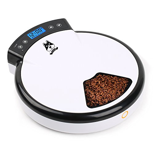 TD Design Automatic Pet Feeder for Dogs & Cats | Dry & Wet Food - 5 Meals, 5 x 240ml
