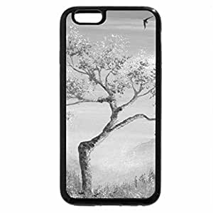 iPhone 6S Plus Case, iPhone 6 Plus Case (Black & White) - Sweet Pink Silence