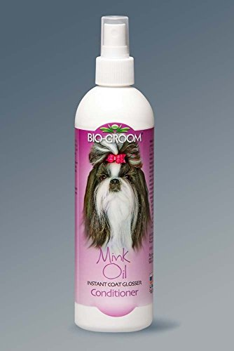 Bio-Groom Mink Oil Spray Conditioner for Cats and Dogs, 12 oz.