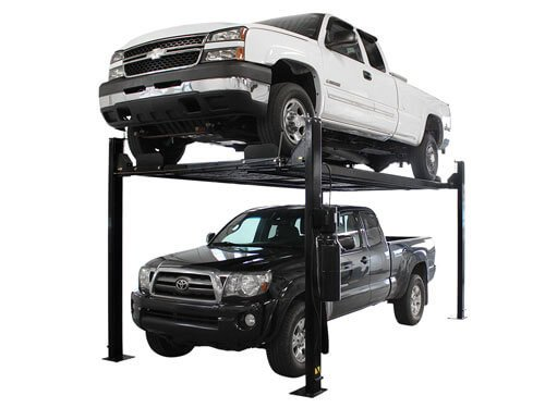 Atlas Garage Pro 8000 EXT-L Portable 8,000 Lbs. Capacity 4 Post Lift (EXTRA TALL, EXTRA LONG) - Four Post Vehicle Lift