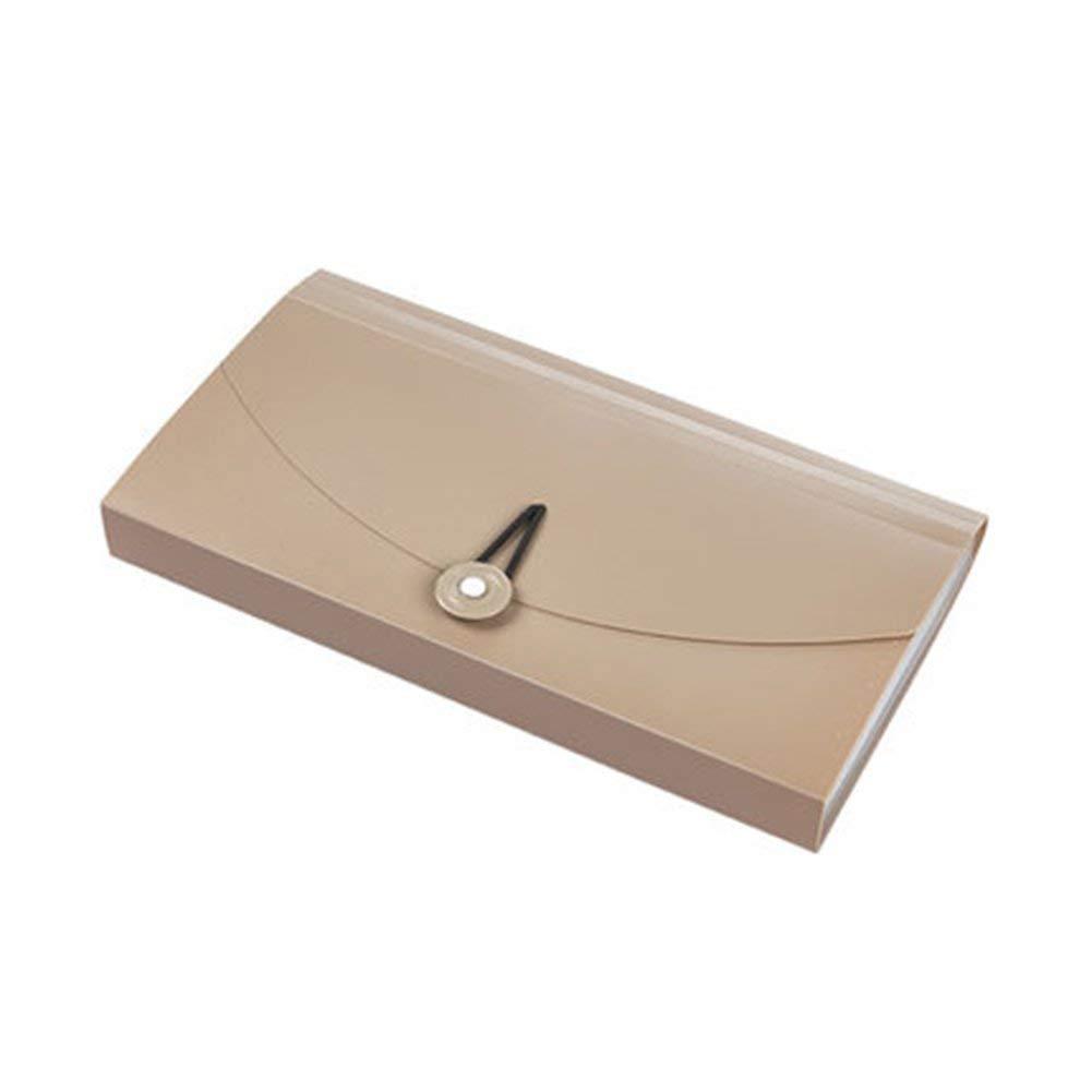 GossipBoy, Portadocumenti, organizer con 13 tasche, espandibile, per assegni, biglietti, carte, in plastica Khaki generic