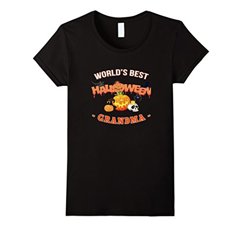 Womens World's Best Halloween Grandma funny gift t-shirt Large Black - Best Halloween Costumes College Students