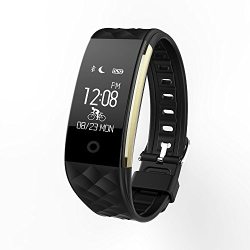 Keoker S2 Wristband Heart Rate Monitor Bluetooth Smart Band Fitness Tracker Smart Bracelet for Android iOS (Black)