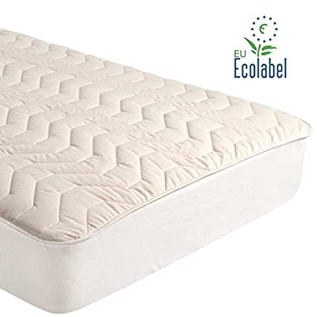 Gotcha Covered Pure Collection 100/% Pure Virgin Cotton Fill//Combed Cotton Quilted Outer Mattress Pad Queen