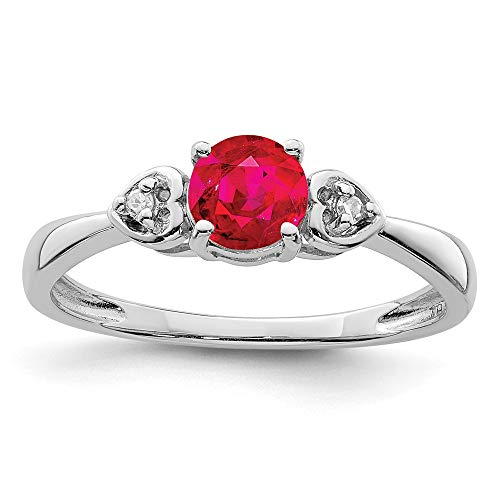 925 Sterling Silver Diamond Red Ruby Band Ring Size 8.00 Gemstone Fine Jewelry For Women Valentines Day Gifts For Her from ICE CARATS