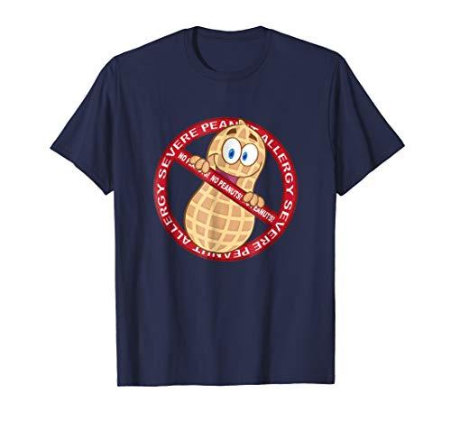 Mens Severe Peanut Allergy Nut Food Awareness T-Shirt Large ()