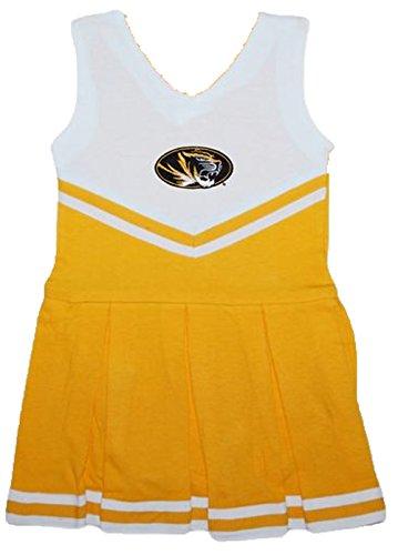 Missouri Tigers NCAA Newborn Infant Baby Cheerleader Bodysuit Dress (12 (Baby Cheerleader Dress)