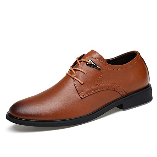a Cravatta Brown Testa Light Scarpe Business Cricket Scarpe semplici Tonda Oxford Men's Casual Classiche con da a08ZU