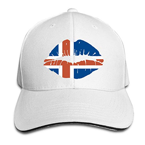 Adult UK Lip Prints Cotton Lightweight Adjustable Peaked Baseball Cap Sandwich Hat Men Women
