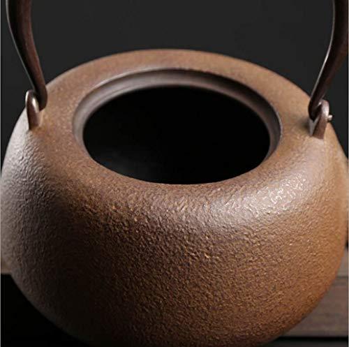 Kitchen Tea Set Porcelain Drinkware Set Saucers Japanese Cast Iron Tetsubin Iron Kettle, Cast Iron Kettle, Hand-Made, Uncoated, Crystal Juice Crystallization Process, Tea Set 1300 Ml by Chusea (Image #1)