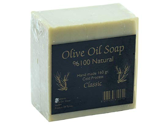 (Handmade Olive Oil Soap - 100% Pure Natural, Vegan - 5.6 oz Each Bar (1))