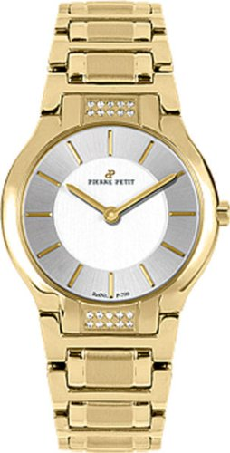 Pierre Petit Women's P-799K Serie Laval Yellow-Gold PVD Diamond Watch