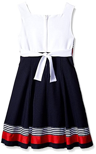 Bonnie Jean Girls Easter Scuba Special Ocassion Dress (20 1/2, Navy/Red) by Bonnie Jean (Image #1)