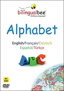 Bilingual Bee Alphabet DVD - ENGLISH - FRENCH - GERMAN - SPANISH - TURKISH - Ultimate bilingual education on your TV for the whole family!