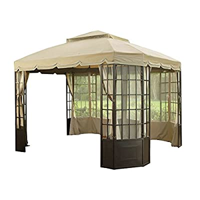 Garden Winds Replacement Canopy Top Cover for Sears Bay Window Gazebo - Riplock 350 - Beige : Garden & Outdoor