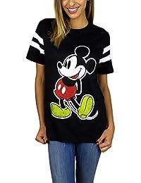 Womens Mickey Mouse Varsity Football Tee