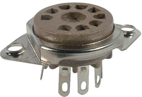 Vacuum Tube Socket, 9 Pin/Miniature, Micalex, Top Chassis Mount