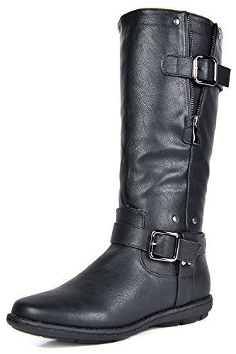 (DREAM PAIRS Women's Wilder Black Faxu Fur Knee High Winter Snow Boots Size 9 M US )