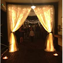 VIVOSKY 3Mx3M 300LED Fairy String Light Curtain Light 8 Modes 110V for Christmas Xmas Wedding Party Home Decoration (Warm White)