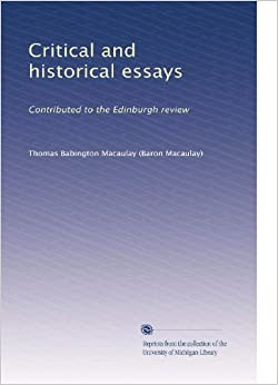 Book Critical and historical essays: Contributed to the Edinburgh review (Volume 2)