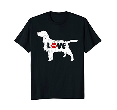(Love Paw Print Shirt English Springer Spaniel )