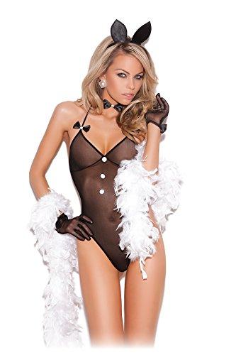 Sexy Women's Bunni Love Play Bunny Lingerie Adult Role Play Cosplay Costume Set Black