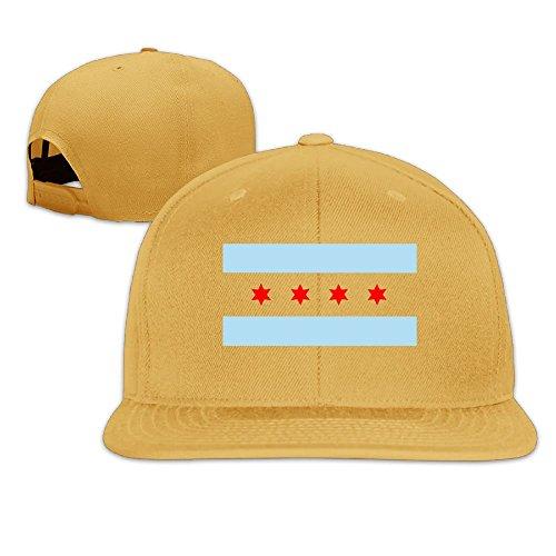 Flag Of Chicago Hip Hop Flat Brim Cap Men Womens Baseball Hat Worlds Funniest Adjustable Snapback Cool Plain Trucker Hats For Dance,Neo-Jazz,Street Jazz,Reggea
