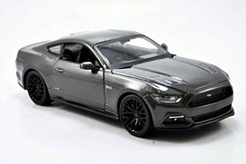 Maisto 2015 Ford Mustang GT, Gray 31508 - 1/24 Scale Diecast Model Toy Car