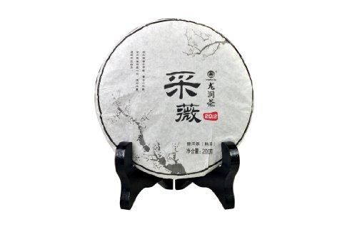 Yunnan Longrun Pu-erh Tea Cake-Caiwei (Year 2012,Fermented, 200g)