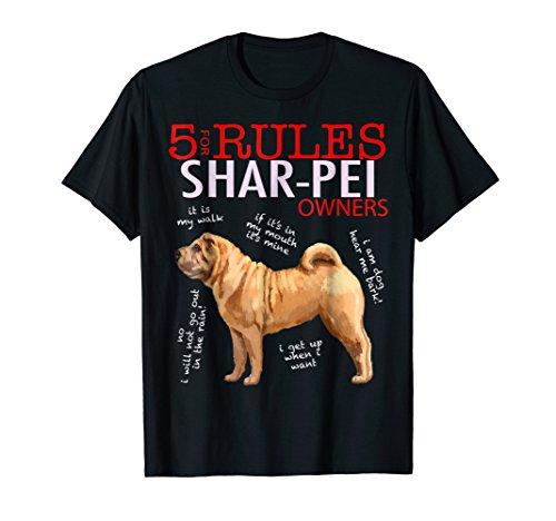 5 Rules for Shar-Pei Owners tee shirt T-shirt Tshirt