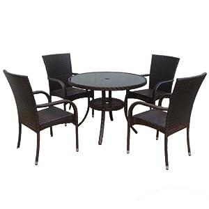 dunloe rattan effect indoor outdoor furniture set. Black Bedroom Furniture Sets. Home Design Ideas